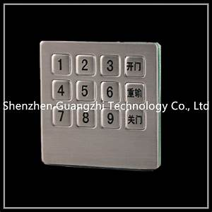 Matrix Type Wired Number Pad For Access Control   3x4