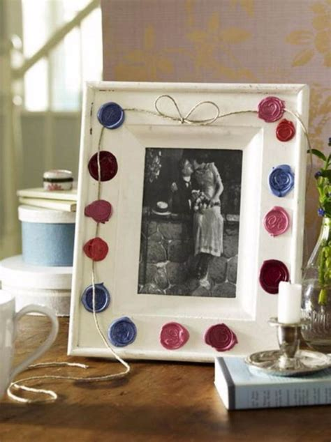 easy diy photo  picture frame decorating crafts