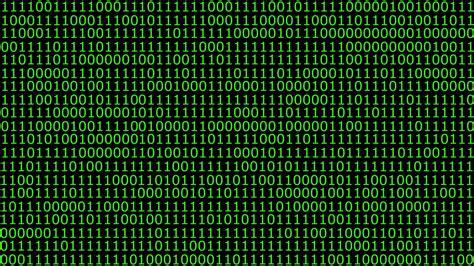 hd animation   solid wall  binary code motion