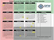 Dubai Financial Market 2017 2018 Holidays DFM Holidays