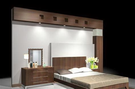 model bed room bed   wall cgtrader
