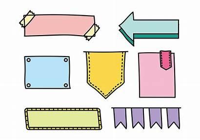 Bullet Journal Icons Vector Vecteezy Vectors Notes