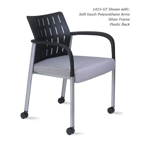link guest chair with casters