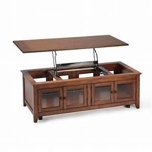 Magnussen harbor bay wood lift top cocktail table metal for Cherry wood lift top coffee table