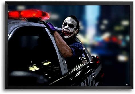 joker police car fp framed photographic paper