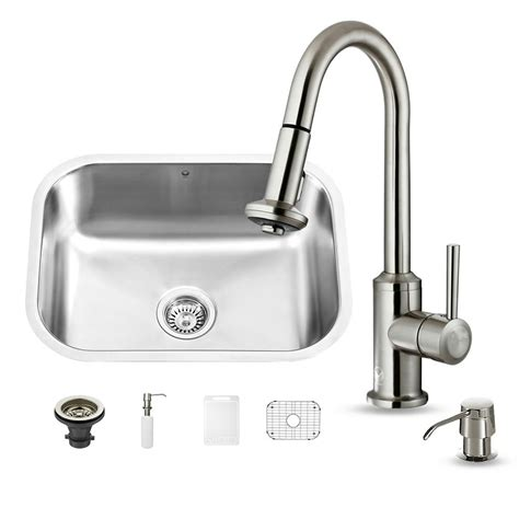 vigo undermount stainless steel kitchen sink vigo undermount stainless steel 32 in single bowl kitchen 9577
