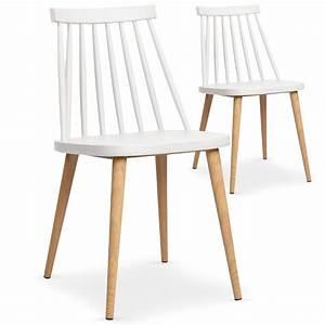 Lot Chaises Scandinaves : chaises scandinaves gunda blanc lot de 2 pas cher scandinave deco ~ Teatrodelosmanantiales.com Idées de Décoration
