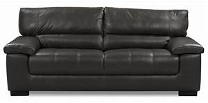 Chateau dax 100 genuine leather sofa charcoal the brick for 100 genuine leather sectional sofa