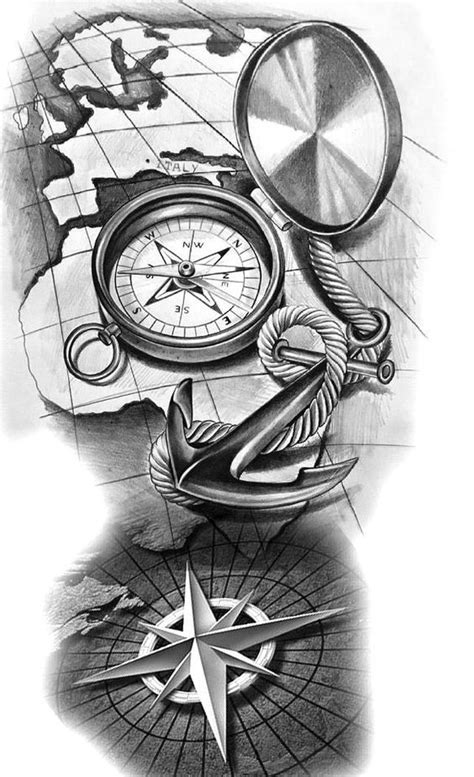 65 amazing compass tattoo designs and ideas (With images) | Compass tattoo design, Compass