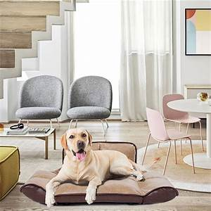 Urhomepro, Pet, Dog, Cat, Bed, Easy, Clean, Pet, Dog, Bed, With, Pu, Leather, Cover, Platform, Base, Soft