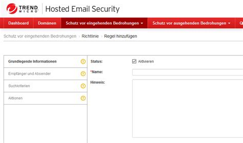 Trend Micro Hes Email Eingang Blockieren  Mail Bombe