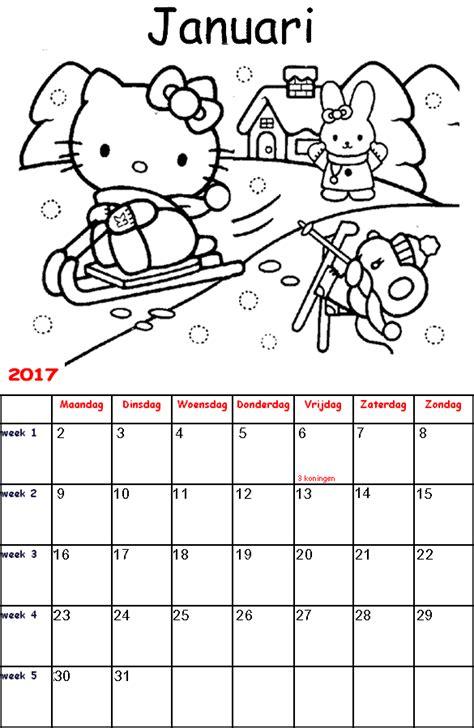 Kleurplaat Kalender Maart by Kleurplaten Hello Afdrukken Hello Kleurplaat