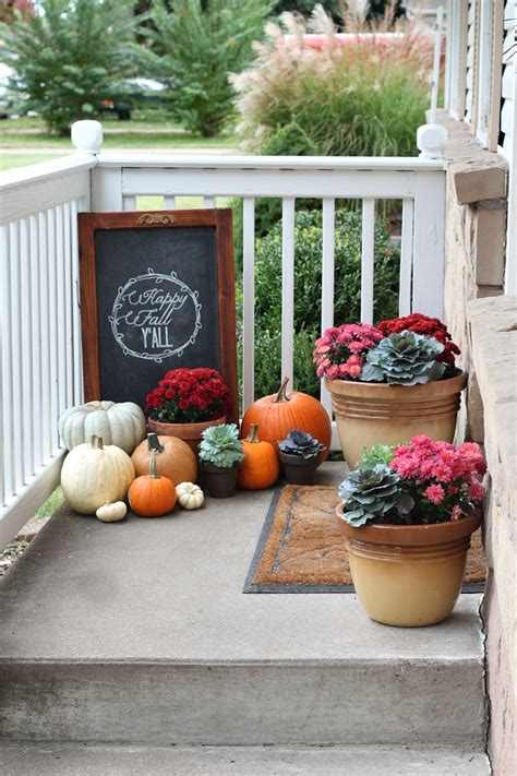 Ideas For Fall Front Porch by Our Fall Porch 2013 Fall Porch Decorating Ideas