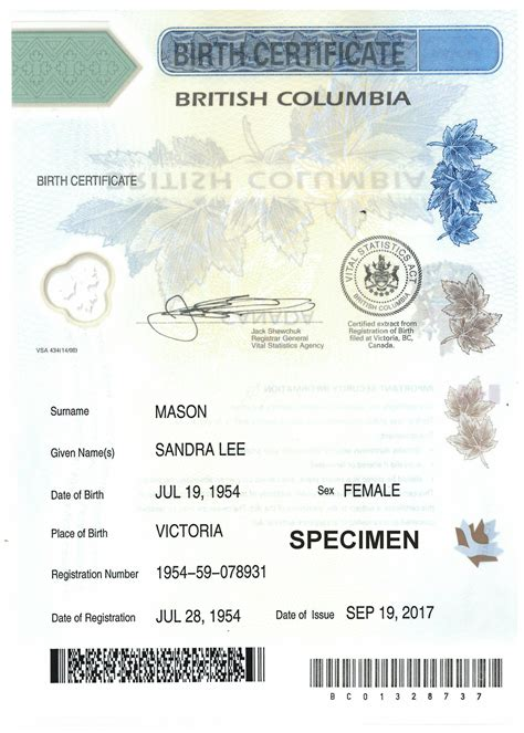 order long form birth certificate birth certificates province of british columbia