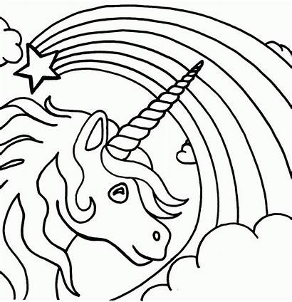 Coloring Rainbow Unicorn Pages Popular