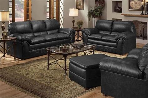 black sofa and loveseat set black bonded leather contemporary sofa loveseat set