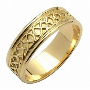 celtic closed knot yellow gold wedding band celtic With celtic wedding rings ireland