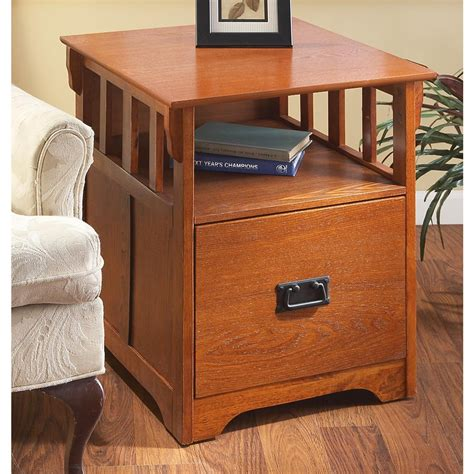 side table file cabinet mission style end table file cabinet 144522 office
