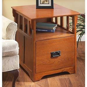 Mission - Style End Table    File Cabinet