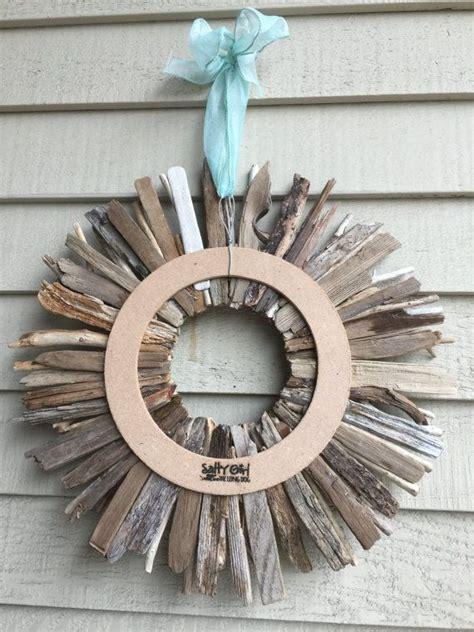 driftwood wreath  maine  wreath turquoise aqua