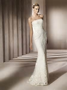 simple lace wedding dress simple strapless lace wedding dress with beading embellishment onewed