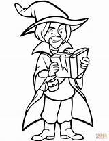 Coloring Wizard Pages Printable Puzzle sketch template