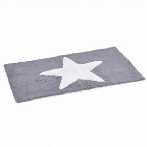 Tapis Etoile Gris : tapis de bain etoile gris tapis salle de bain eminza ~ Teatrodelosmanantiales.com Idées de Décoration