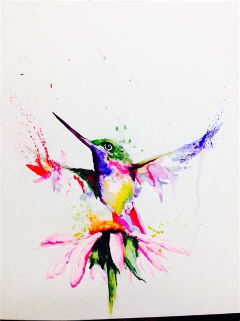 Information About Watercolor Hummingbird Skeleton Yousenseinfo