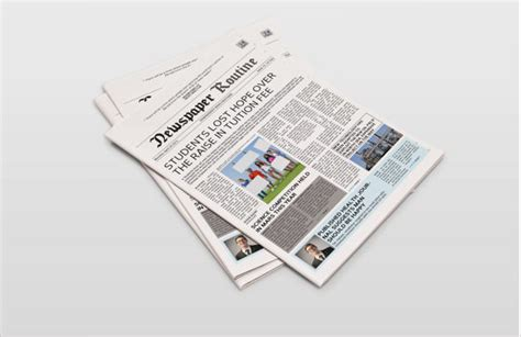 sample newspaper layouts sample templates