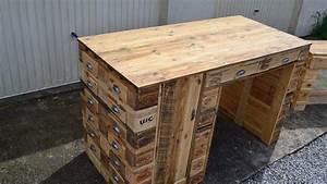 meuble fabrique avec des palettes les 25 meilleures id With fabrication meuble en bois de palette