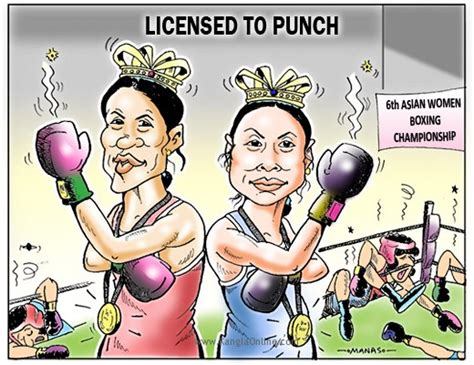 Female Boxing Cartoon Images