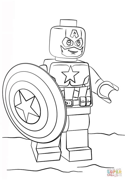 lego captain america super coloring 2017 coloring
