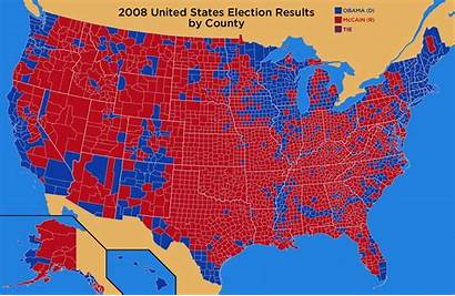 Election 2008 County Map Presidential Elections Reagan