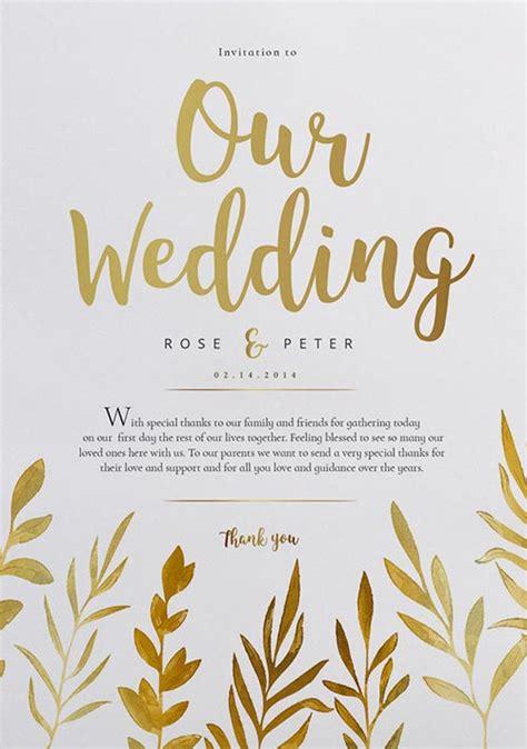 watercolor wedding flyer template  wedding