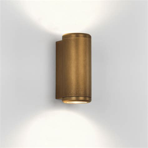 astro lighting  jura ip twin coastal exterior brass