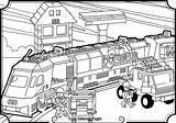 Train Coloring Pages Lego Station Freight Printable Getcolorings Whitesbelfast Credit Save Getdrawings sketch template