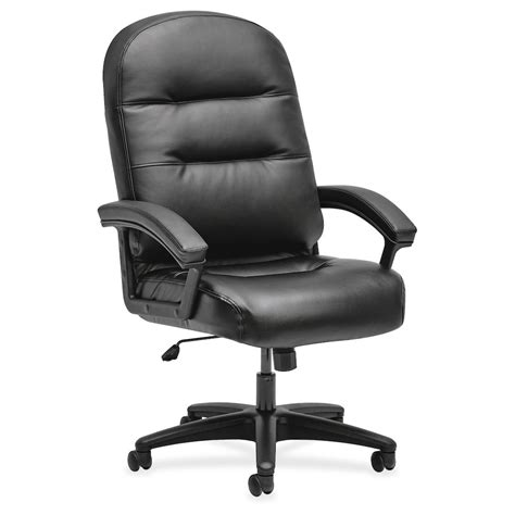 Pillowsoft Executive Highback Chair  Fixed Arms Black