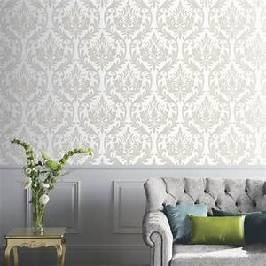 Arthouse Vintage Damask Pattern Wallpaper Modern Embossed ...