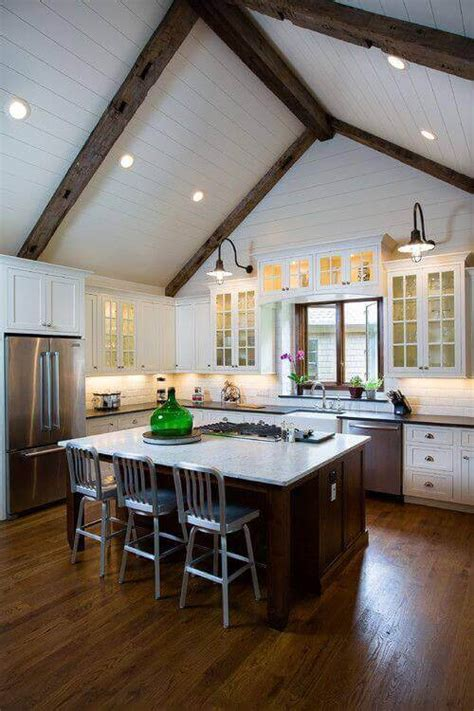 vaulted ceiling kitchen lighting ideas 36 great exposed beam ceiling lighting ideas 8800
