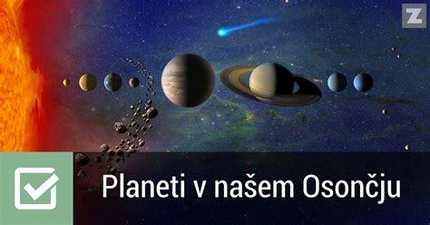 Planeti v našem Osončju | Vesolje | Preverjanje znanja ...