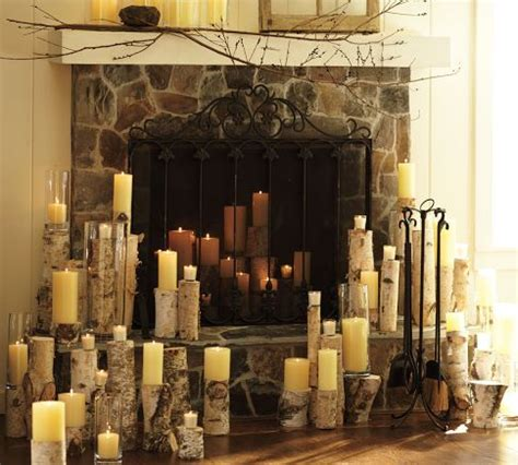 log candles for fireplace i love how they put all the birch logs and candles everywhere what to do with cut down birch