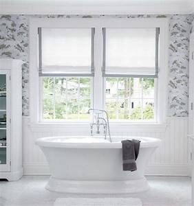 Interior bathroom window treatments ideas art deco for Window dressing ideas for bathrooms