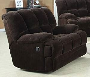 Large Rocker Recliner Chair by Ahearn Chocolate Chion Plush Fabric