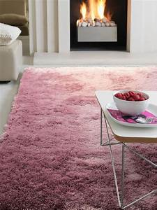 Teppich Grau Lila : benuta hochflor teppich whisper lila 60002628 uni ~ Whattoseeinmadrid.com Haus und Dekorationen