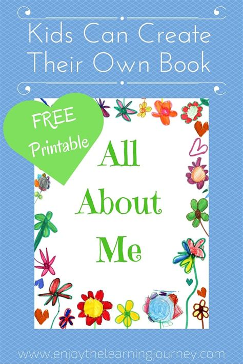 all about me book with free printable enjoy the learning 386 | All About Me1