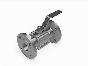 3 Piece Manual Ball Valve - Din Standard Flanged Ends