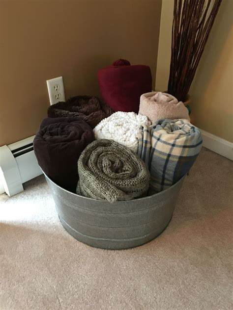 blanket bucket galvanized tub repurposed decor storage holder towels ice cool water living keep into apartment buckets decorating organized proof
