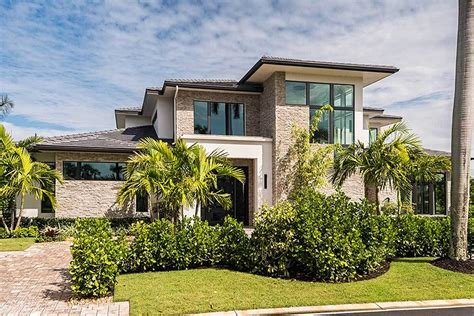 Contemporary Mediterranean House Plans Two Story Caribbean