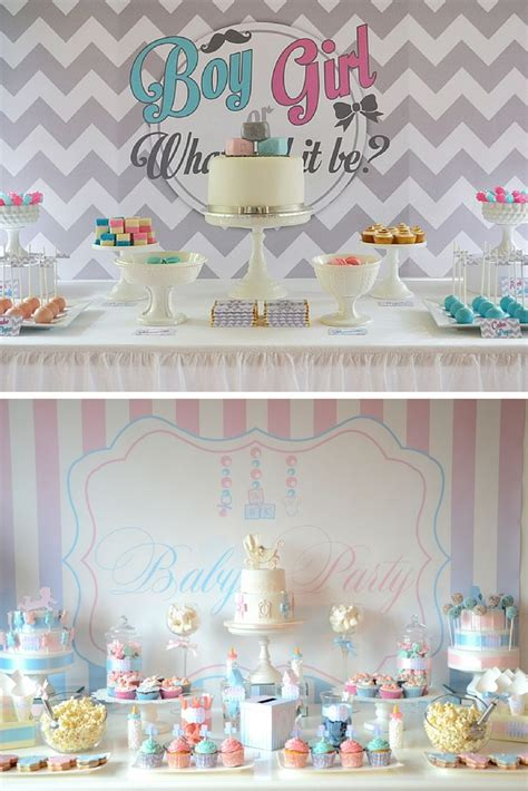 baby shower mixte idees deco pour le buffet baby