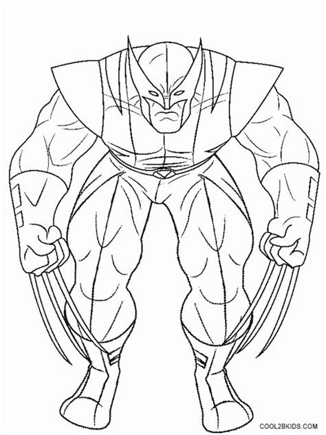 color pages printable wolverine coloring pages for cool2bkids